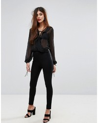 Pantalones negros de French Connection
