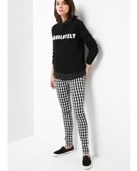 seleccione para genuino mejor elección venta más barata Cómo combinar unos pantalones pitillo a cuadros en negro y ...