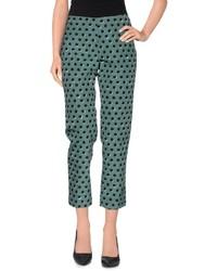 Pantalones pitillo a lunares verde oscuro