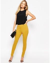 Pantalones pitillo amarillos de Asos