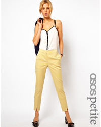 Pantalones pitillo amarillos de Asos Petite