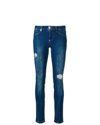 Pantalones pitillo azul marino de Philipp Plein