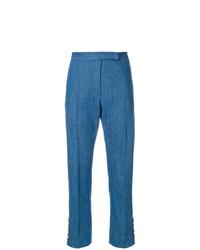 Pantalones pitillo azules de Thom Browne
