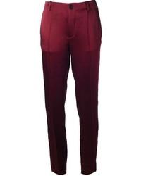 Pantalones pitillo burdeos