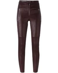 Pantalones pitillo burdeos de Isabel Marant