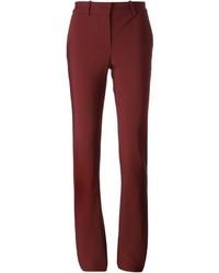 Pantalones pitillo burdeos de Lanvin