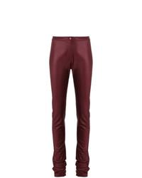 Pantalones pitillo burdeos de Romeo Gigli Vintage