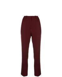 Pantalones pitillo burdeos de Victoria Victoria Beckham