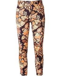 Pantalones pitillo con print de flores negros de Vivienne Westwood
