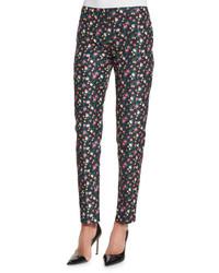 Pantalones pitillo con print de flores original 4264311
