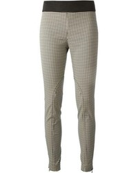 Pantalones pitillo de cuadro vichy en negro y blanco