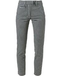 Pantalones pitillo de cuadro vichy en negro y blanco de Dondup