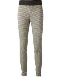 Pantalones pitillo de cuadro vichy en negro y blanco de Stella McCartney