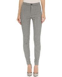 Pantalones pitillo de cuadro vichy en negro y blanco de Victoria Beckham