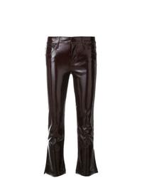 Pantalones pitillo de cuero burdeos de RtA