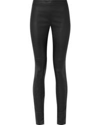 Pantalones pitillo de cuero negros de Akris