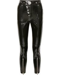 Pantalones pitillo de cuero negros de Alexander Wang
