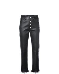 Pantalones pitillo de cuero negros de Amiri