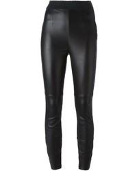 Pantalones pitillo de cuero negros de Dolce & Gabbana