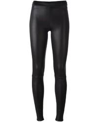 Pantalones pitillo de cuero negros de Drome