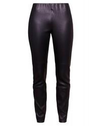 Pantalones pitillo de cuero negros de Escada