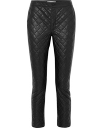 Pantalones pitillo de cuero negros de Frame