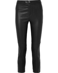 Pantalones pitillo de cuero negros de Isabel Marant