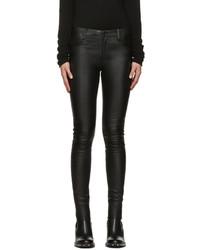 Pantalones pitillo de cuero negros de Mackage