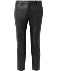 Pantalones pitillo de cuero negros de Nili Lotan