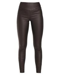 Pantalones pitillo de cuero negros de Vero Moda