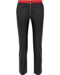 Pantalones pitillo de cuero negros de Victoria Beckham
