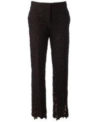 Pantalones pitillo de encaje negros de Valentino