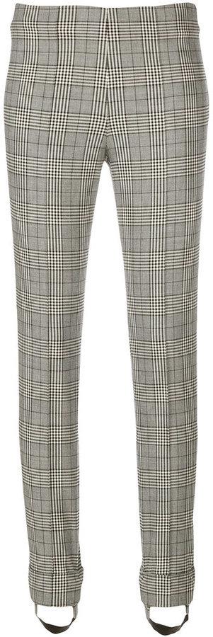 Pantalones pitillo de lana estampados grises de Ermanno Scervino