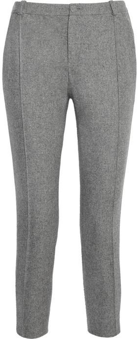 Pantalones pitillo de lana grises