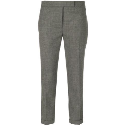 Pantalones pitillo de lana grises de Thom Browne