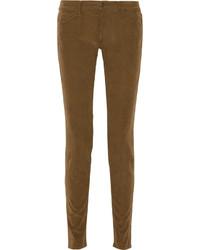 Pantalones pitillo de pana marrónes