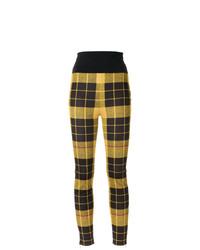 Pantalones pitillo de punto amarillos de Gloria Coelho