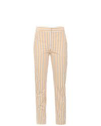 Pantalones pitillo de rayas verticales amarillos de Egrey