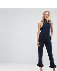 Pantalones pitillo de rayas verticales azul marino de Y.A.S Tall