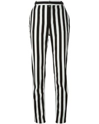 Pantalones pitillo de rayas verticales en blanco y negro de Givenchy