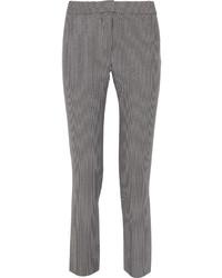 Pantalones pitillo de rayas verticales grises