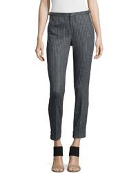Pantalones pitillo de rayas verticales original 4264310