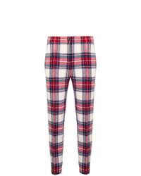 Pantalones pitillo de tartán rojos de Boutique Moschino