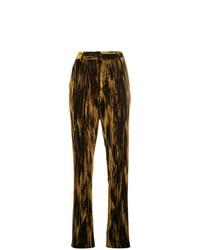 Pantalones pitillo de terciopelo marrónes de Saint Laurent