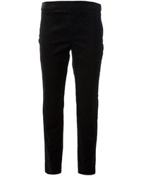 Pantalones pitillo de terciopelo negros