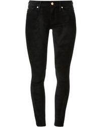 Pantalones pitillo de terciopelo negros de 7 For All Mankind