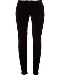 Pantalones pitillo de terciopelo negros de Gucci