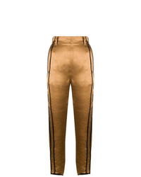 Pantalones pitillo dorados de Ann Demeulemeester