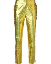 Pantalones pitillo dorados de Etro