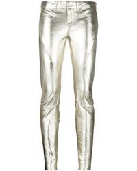 Pantalones pitillo dorados de Faith Connexion